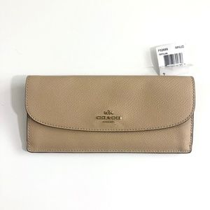 NWT Coach Nude F52689 Leather Soft Slim Wallet